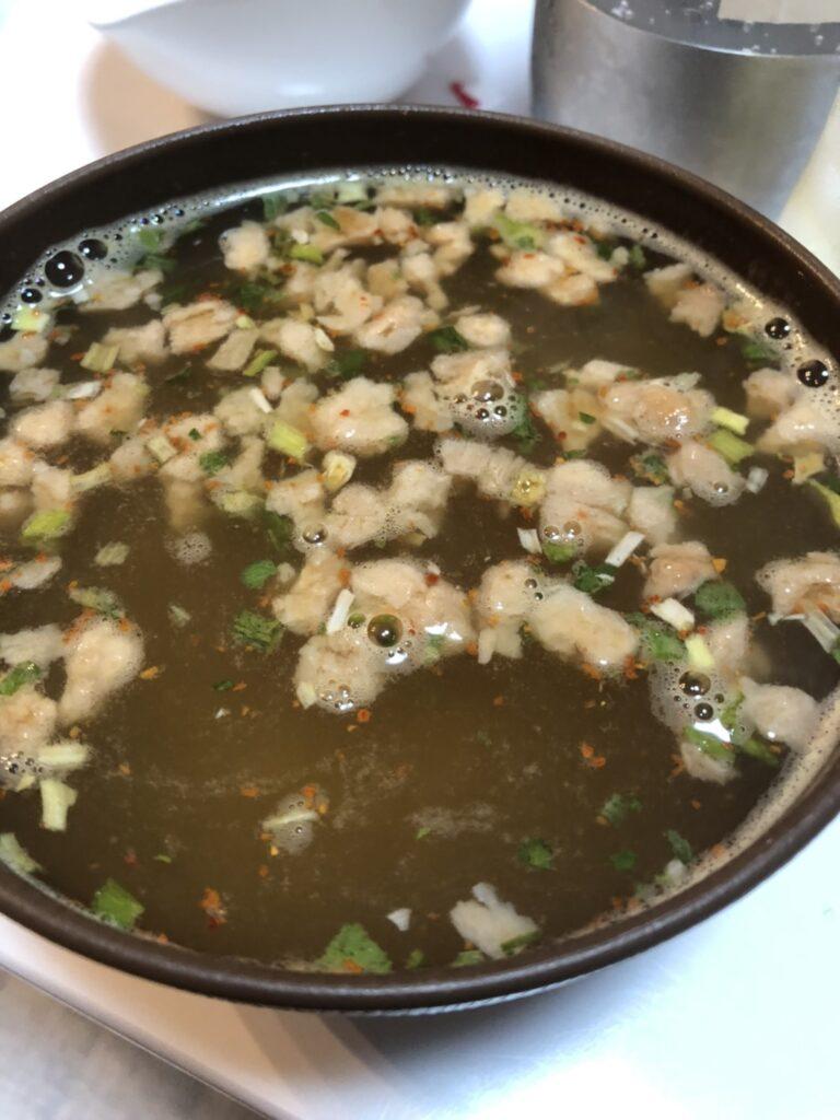 辛いチゲスープ